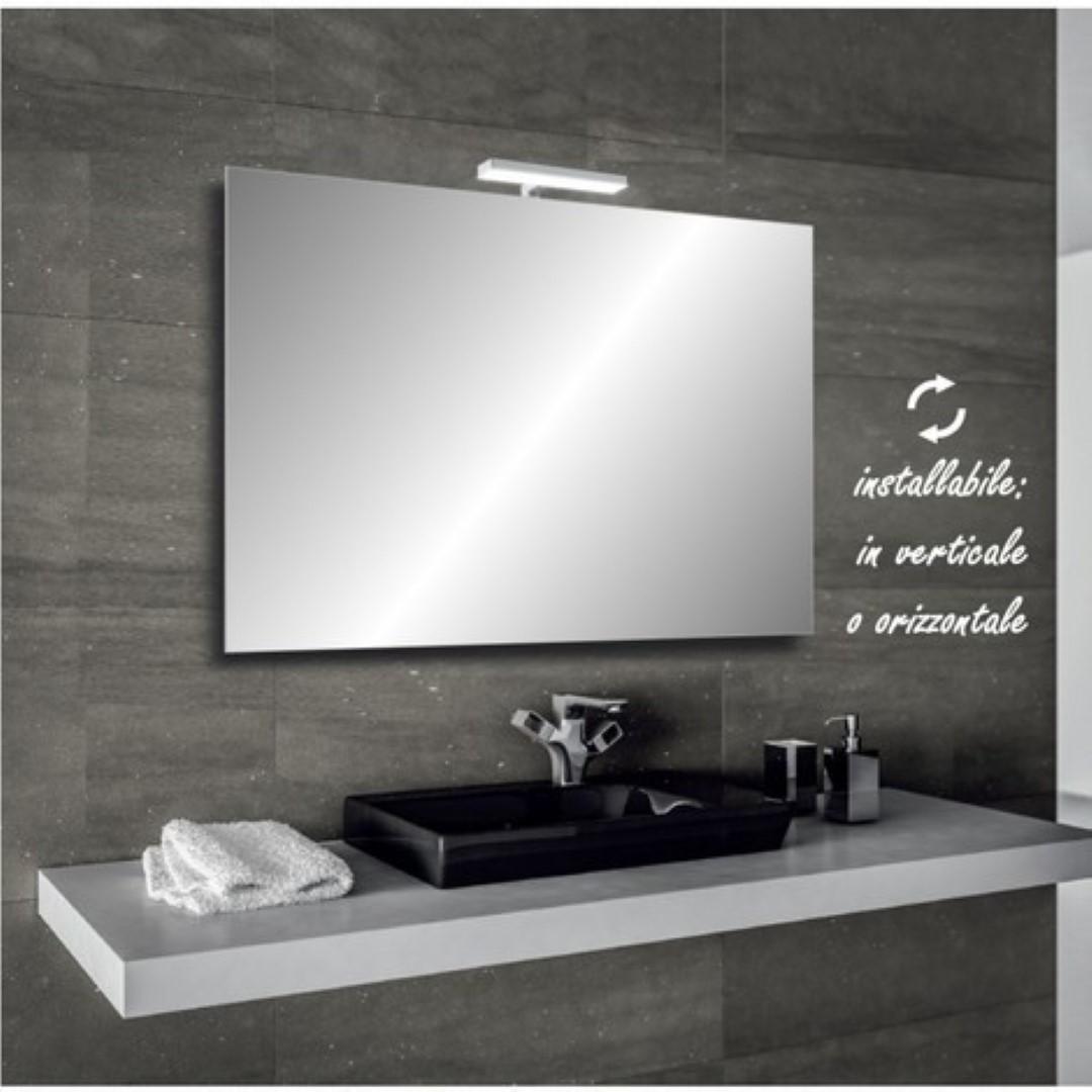 Specchio bagno 60X70 led specchiera bagno lampada led applique faretto led NEW