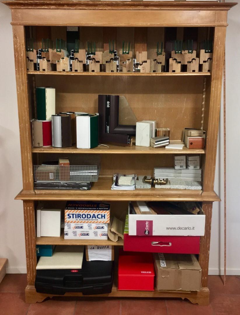 Libreria studio arredo legno arte povera decorato 190x120 bianchini ...